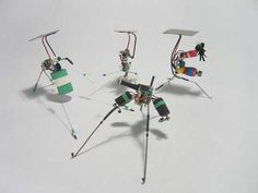 Vibrobots - Simple solar powered robots that move by vibrating