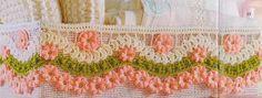 As Receitas de Crochê: BARRADO DE CROCHE COM FLORES