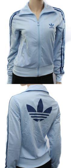 Adidas Originals Womens Firebird Blue Zip Track Top - Track & Active Jackets - Apparel -