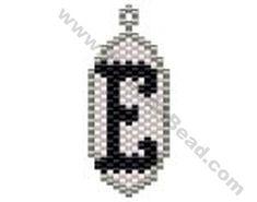 Initial E Pendant Bead Pattern By ThreadABead