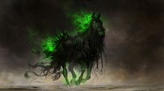 [Fantasy] - [digitalart/paintings/fantasy] - Fear, the black horse of famine - by: theDURRRRIAN