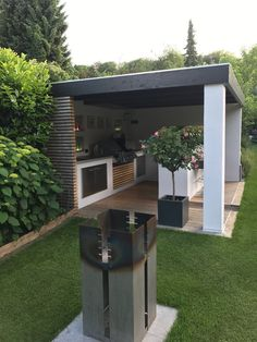 Garden Design, Modern Backyard, Outdoor Kitchen Design, Outdoor Rooms, Backyard Bar, Decorating Bookshelves, Newly Remodeled Kitchens, Diy Backyard, Outdoor Kitchen