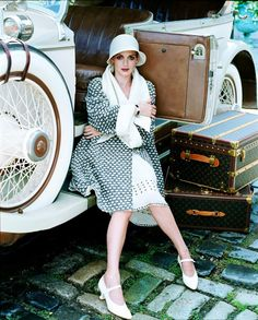 1920s inspired travel style.