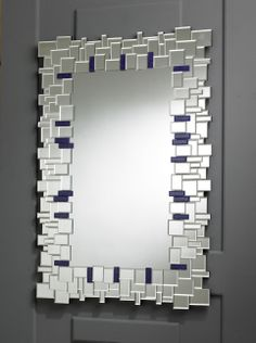 A visually stunning well crafted rectangular mirror which combines a Modern styl… – Spiegel Mirror Mosaic, Mirror Art, Diy Mirror, Mosaic Glass, Purple Wall Mirrors, Family Wall Decor, Home Design Living Room, Modern Art Deco, Mosaic Crafts
