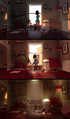 Living Room Studio by MikeRedman | Animation | 2D | CGSociety …
