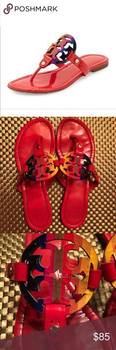 ef4d4a1ffce4e tory burch shoes tory burch rainbow miller red vermillion 7 new ...