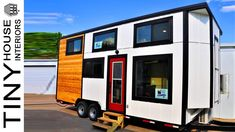 Modern 24 ft. THOW Ramblin' Rose Tiny House On Wheels with Split-Level Loft Tiny House Family, Modern Tiny House, Garage Apartment Plans, Garage Apartments, Farmhouse Apron Sink, Interior Work, Sleeping Loft, Exterior Siding, Tiny House On Wheels