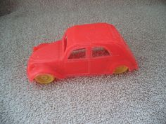 Tootsie toy car , Tootsie plastic toy car , Toy car from 1970's , Vintage plastic toy , Citroen toy car , Plastic toy by JanetJcrafts on Etsy