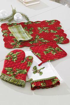 C Holly Placemats @ Belk.com #belk #holidays