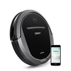 Pet Hair Renewed Higher Suction Power Bare Floors with Mapping Technology ECOVACS DEEBOT 901 Smart Robotic Vacuum for Carpet WiFi Connected with Alexa and Google