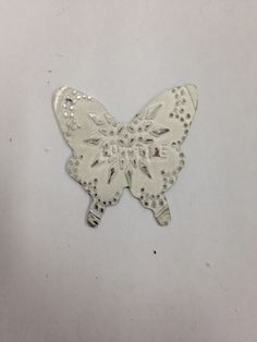 Rebecca's  silver butterfly-  Made with a steel model pressed on silver sheet in the rolling mill
