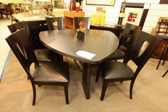 Najarian Triangle Dining Table with 6 Chairs - Colleen's Classic Consignment, Las Vegas, NV www.colleenconsign.com