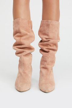 Modern Slouch Boot from Free People! Stiletto Boots, Heeled Boots, Tall Boots, Ugg Boots, Slouchy Boots, Little Dresses, Mid Calf Boots, Who What Wear, Look Fashion