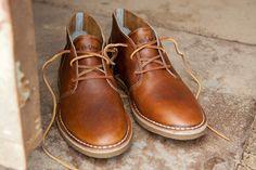 Leather chukkas