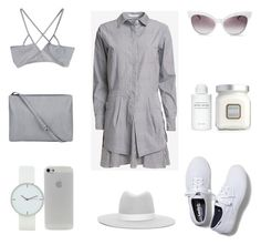 Styling the Shirt Dress by fashionlandscape on Polyvore featuring Mode, 10 Crosby Derek Lam, Keds, Janessa Leone, Wildfox, Laura Mercier and Byredo
