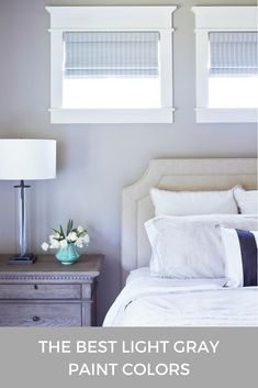 Struggling to pick the perfect light gray paint color for your home? Discover the best light gray paint colors in this post. Light Grey Paint Colors, Best Gray Paint Color, Light Grey Walls, Wall Paint Colors, Paint Colors For Living Room, Paint Colors For Home, Grey Bedroom Paint, Bedroom Colors, Home Decor Bedroom