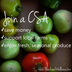 Info about joining a CSA (community supported agriculture). #CSA #recipes