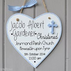 #Christening details plaque. #personalised baby boy  baptisum gift  and…
