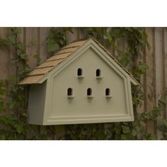 The Four Seasons #birdhouse. Designed with five separate #nestboxes inside to attract the House Sparrows back to the #garden.