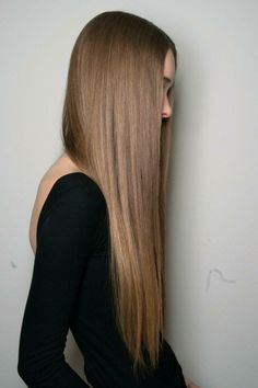 perfect straight hair.