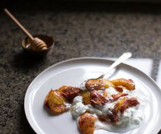 Roasted Salted Peaches with Brown Sugar, and Cinnamon