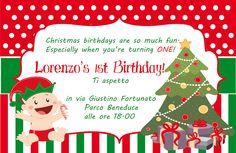 Invito Compleanno di Natale