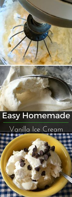 No churning needed for this easy homemade Vanilla Ice Cream! Plus it only takes 3 ingredients. | Clearly Organic Nutritionist Corner