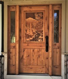 Hand carved to perfection, Great River Door Co. offers beautiful carved wood front doors for homes, lake houses & cabins. Check out our gallery & call today. Teal Front Doors, Wood Front Doors, Rustic Doors, Old Doors, Entry Doors, Wooden Wall Decor, Wooden Art, Fromt Doors, Craftsman Front Doors