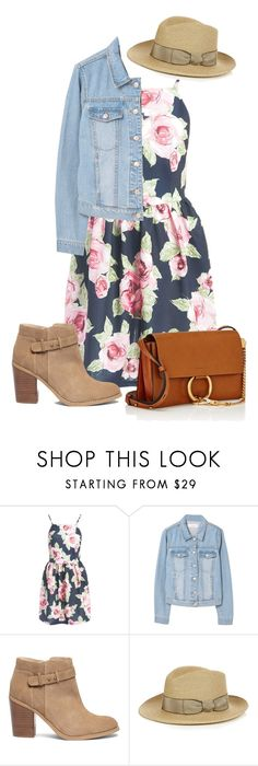 """Spring Layers"" by pure-vnom ❤ liked on Polyvore featuring Sans Souci, MANGO, Sole Society, Filù Hats and Chloé"
