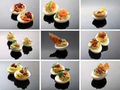 9 In-Your-Face Deviled Egg Variations from SeriousEats.com - Because deviled eggs are one of Tim's absolute favourite foods.
