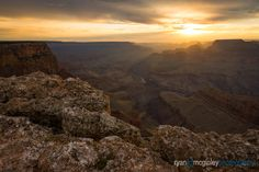 The sun sets behind the Colorado River and Grand Canyon National Park as seen from Lipan Point.