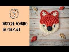 cosicasraquel: Broche Zorrito de Crochet Crochet Baby Bibs, Crochet Fox, Crochet Baby Clothes, Crochet Mandala, Crochet Chart, Crochet Motif, Crochet Animals, Crochet Flowers, Plastic Bag Crochet