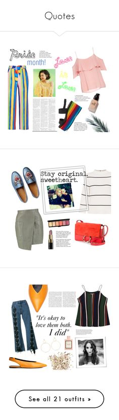 """""""Quotes"""" by spencer-hastings-5 ❤ liked on Polyvore featuring Mara Hoffman, BB Dakota, Rocket Dog, e.l.f., pride, Boohoo, L.K.Bennett, Gucci, Chloé and Bobbi Brown Cosmetics"""