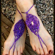 lisesolvang barefoot crochet sandals