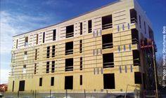 Les Habitations Nordic Chibougamau, Nord-du-Québec Immeuble multirésidentiel construit avec des panneaux de bois lamellé-croisé. Multi Story Building