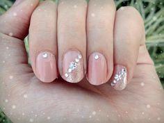elegant rhinestone with glitter