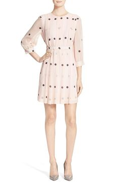 kate spade new york 'tiny spotlight' pleated silk dress available at #Nordstrom