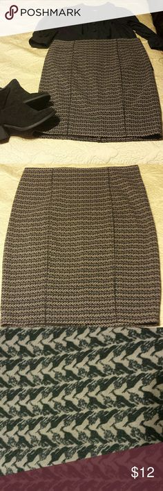 Printed pencil skirt Brown and black printed pencil skirt. Excellent, like new condition. Mossimo. The tag says size 16 but it runs small! My guess is a 12/14. Mossimo Supply Co. Skirts Pencil
