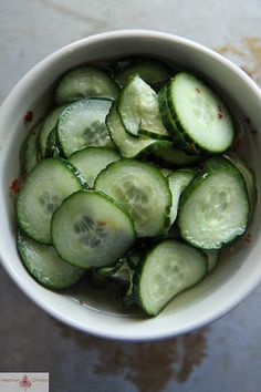 Spicy Pickled Cucumbers