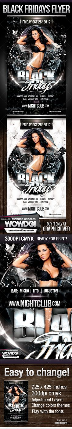 Club Party Flyer Template   Party flyer and Club parties