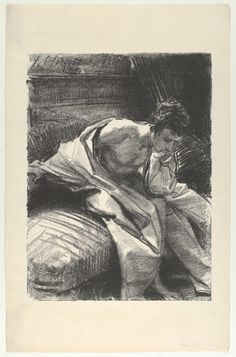 """John Singer Sargent (American, """"Study of a Young Man, Seated,"""" Transfer lithograph. ~ {cwl} ~ (Original Image via: The Metropolitan Museum of Art, New York). Inspiration Art, Art Inspo, Art Graphique, Drawing Techniques, Art Plastique, Easy Drawings, Figure Drawings, American Artists, Painting & Drawing"""