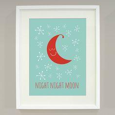 'Night Night Moon' Art Print