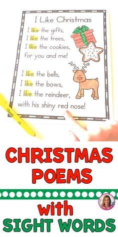 Christmas Sight Word Poems