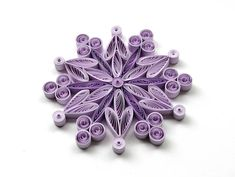 Snowflakes Purple Frosty Christmas Tree Decoration Winter Ornaments Gifts Topper Filler Office Corporate Paper Quilling Quilled Handmade Art These are unique handmade quilled snowflakes - Christmas edition! Amazing Christmas gift for Your loved ones and suitable for all winter