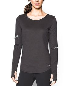 Love this Under Armour® Black Charged Wool Long-Sleeve Tee by Under Armour® on #zulily! #zulilyfinds