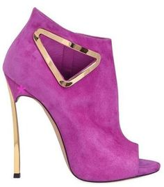 Emmy DE * CASADEI 120mm Blade Triangle Cut Out Suede Boots 2015 #shoes #boots #beautyinthebag