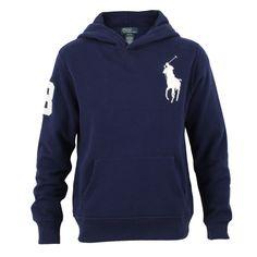 Polo Ralph Lauren Big Pony Fleece Pullover Hoodie, Navy, Medium
