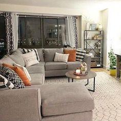 Home Decoration; Leather sofa;Three Seat Sofa;Two-seat Sofa; Simple Living Room Decor, Boho Living Room, Living Room Interior, First Apartment Decorating, Living Room Sectional, Corner Sofa Living Room, Gray Sectional, Sofa Furniture, Furniture Movers