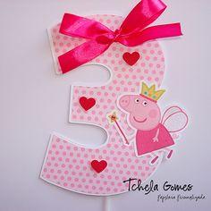 Topper para bolo Peppa Pig | Flickr - Photo Sharing!