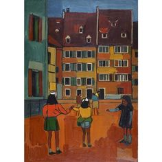 Spielende Kinder, 1950 Painting, Art, Switzerland, Auction, Painting Art, Children, Kunst, Art Background, Paintings